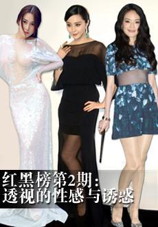 2013华人女星透视装红黑榜