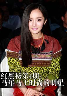 明星红黑榜第4期:马年马上时尚的女星
