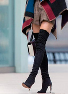 过膝长靴时髦法 要懂得留白!