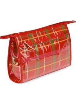 凯特·丝蓓红色格纹图案化妆包