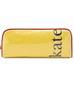 凯特·丝蓓黄色长形化妆包