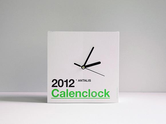 创意时钟台历 给你每日新篇章