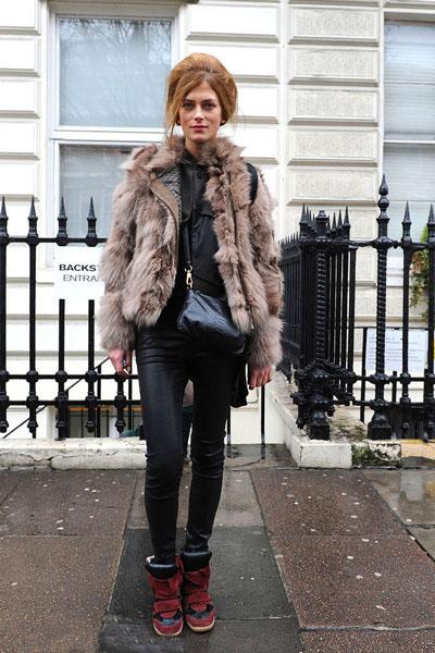 2012伦敦时装周模特街拍