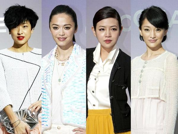 Chanel秀场的中国女星造型