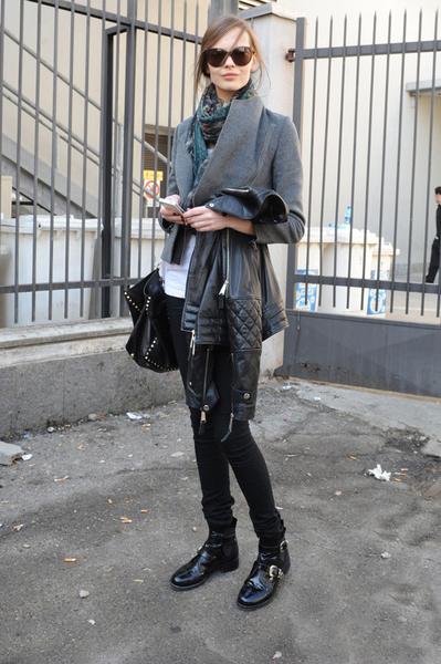 米兰超模街拍的极简主义