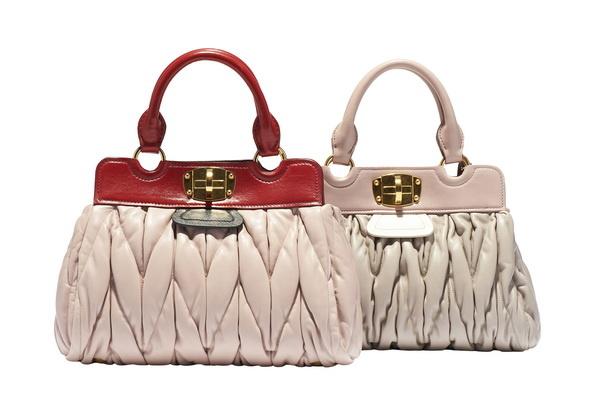 Miu Miu最新Matelassé双色手包