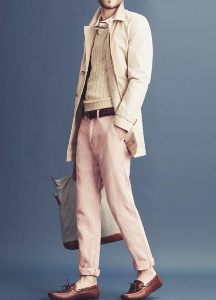 春季轻松上手搭配 彩色长裤