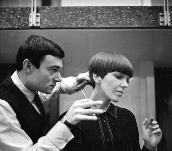 沙宣先生1963年为Mary Quant女士打造经典几何bob头