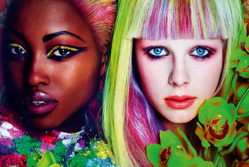 《Allure》3月号彩妆大片 目眩神迷的色彩