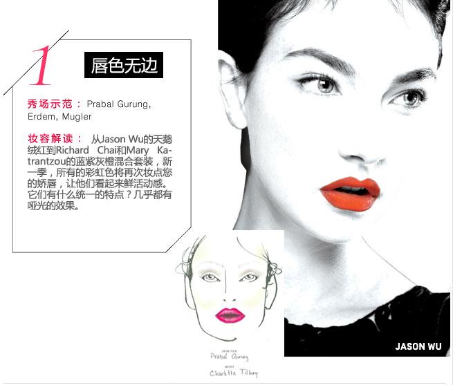 盘点:10个春夏T台最美潮流彩妆发型