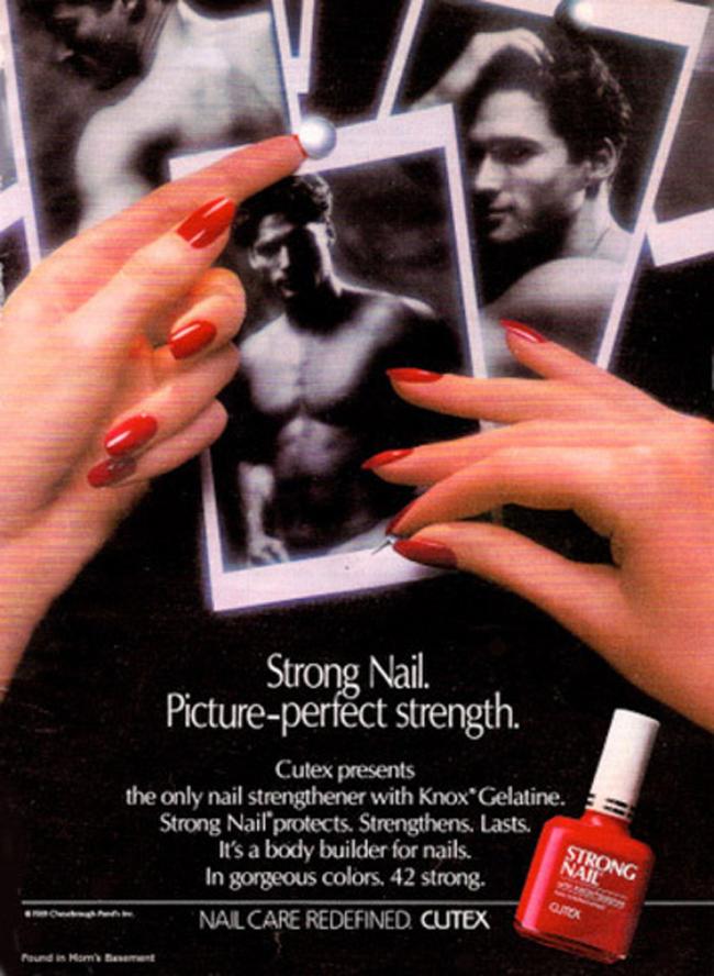 重温1960年经典美妆:指甲油广告