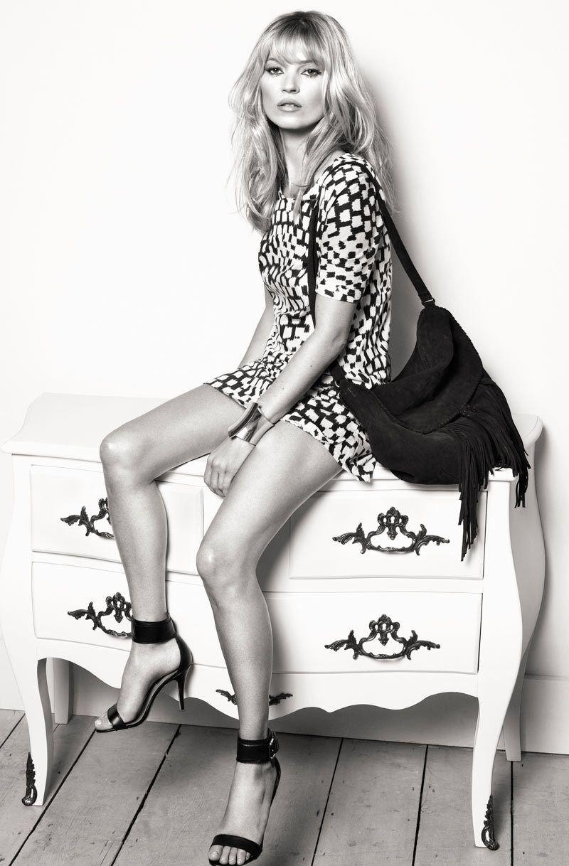 Kate Moss率性 演绎Mango春季广告