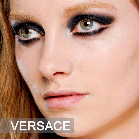 龙纹身女孩 Versace秋冬秀场妆容