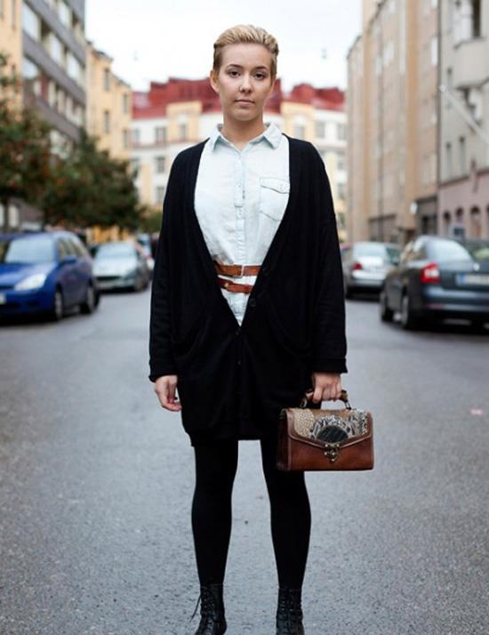 时尚街拍:用发型演绎干练女人