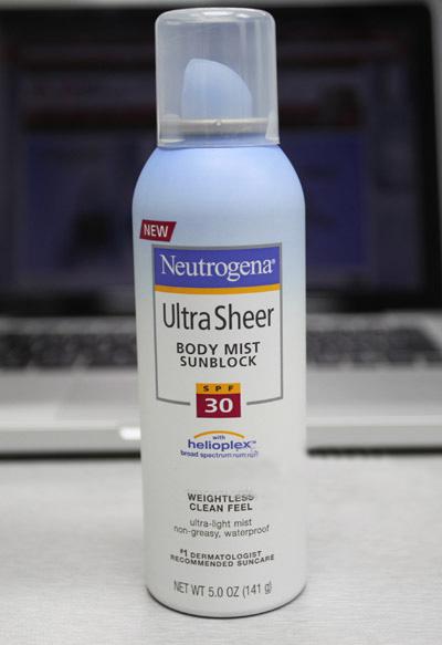 轻薄防晒品 Neutrogena 露得清