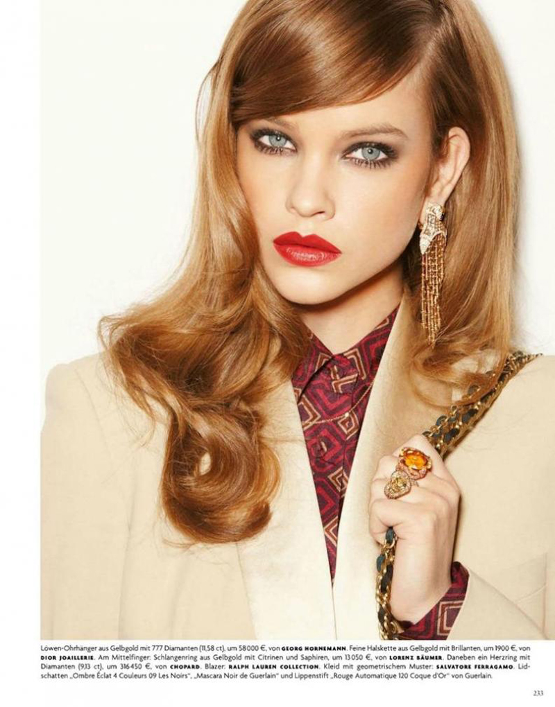 Barbara Palvin《Vogue》德版2012年4月号