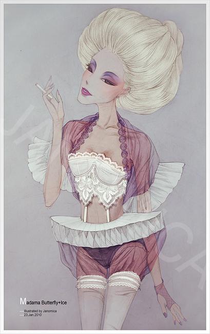 新锐设计师 Janomica的性感内衣插画