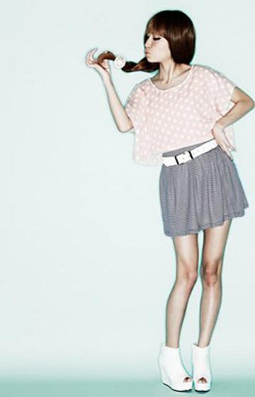 小清新短裙 甜美搭配不撞衫
