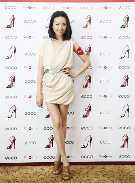 董洁亲临ECCO上海正大店