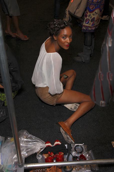 Anna Sui 2012春夏高级成衣后台