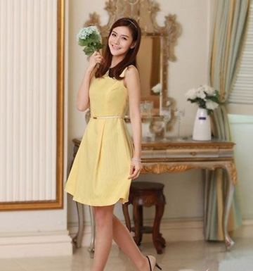 A型裙打造公主般优美线条