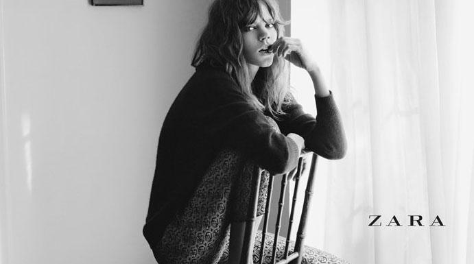 毛衣,夹克,风衣,西裤,等元素,在模特的演习下,体现了zara大气的格调和