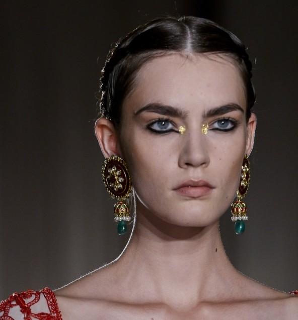 marchesa金箔眼妆 奢华印度女郎
