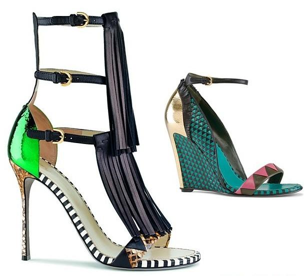 几何图案+撞色条纹 前卫鞋履推荐
