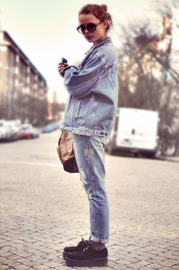 街拍潮人的潮流牛仔LOOK