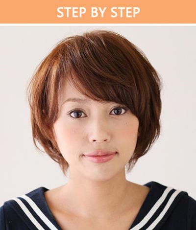 step1:头发少的女生比较适合短发