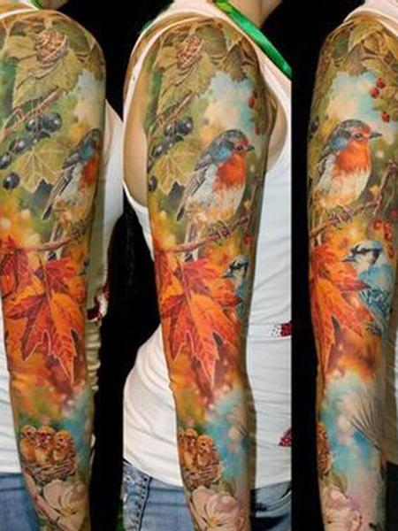 精美花臂纹身 引领时尚潮流