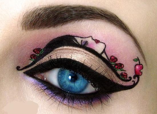 万圣节妆容化妆师示范个性眼妆