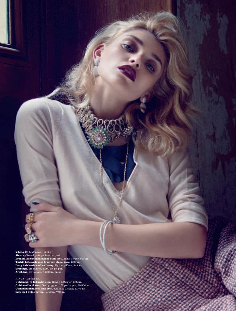 时尚圈 时尚杂志 > 正文    《elle》杂志丹麦十二月时尚大片,由模特
