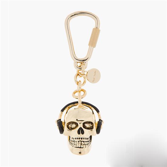 paul smith金色骷髅头钥匙链