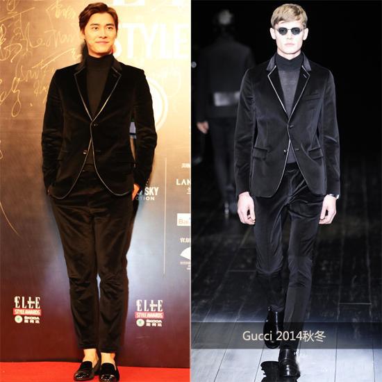 Gucci 2014秋冬黑色丝绒