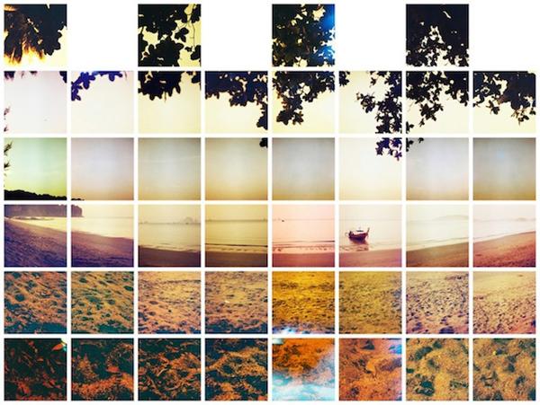 像素世界 用马赛克做风景墙