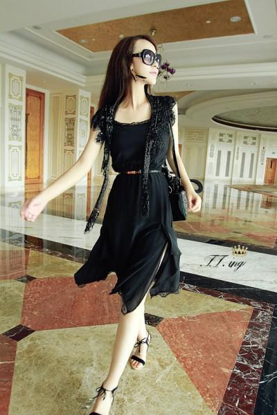黑色连衣裙 搭配优雅名媛范儿
