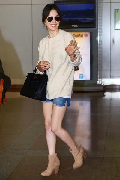 长袖短裤冷热混搭