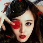 范冰冰玫瑰红唇