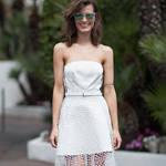 优雅白色连衣裙