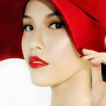 红唇复古妆