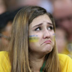 泪洒世界杯 花妆太美不敢看