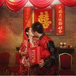 佛山岭南天地喜办集体婚礼 300年嫁娶屋中再现传统婚俗